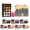 Pro 15 Cores de Maquiagem Creme Corretivo Paleta Kits Com 20 Pcs Fundação Blush Em Pó Escovas Macias Cosméticos Puff Esponja
