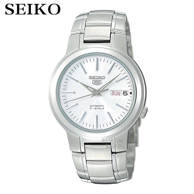 SEIKO Watch N ° 5 Automático Moda relógio mecânico simples SNK379K1 SNK807K2 SNK809K1 SNK809K2 SNK385K1 SNK803K2 SNK805K2