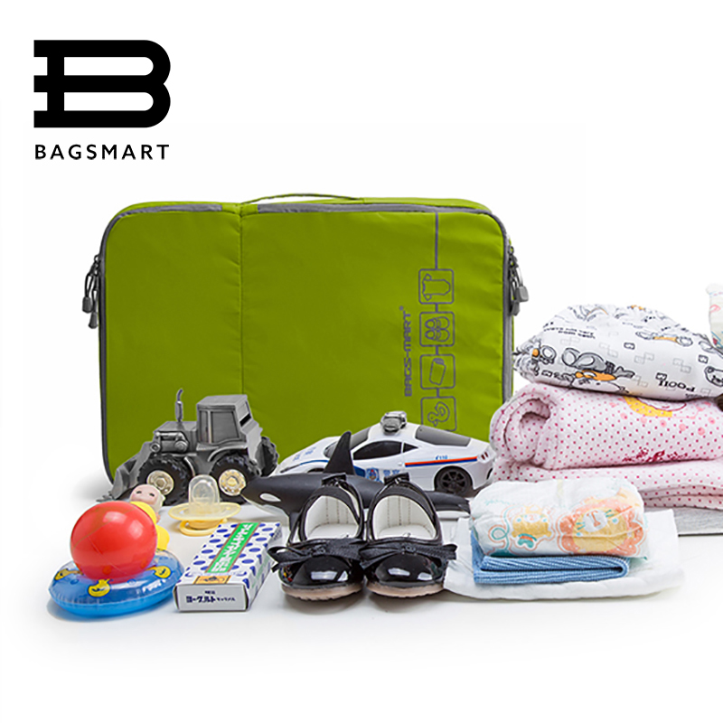 b32b46723141 BAGSMART Trave Organizer Packing Cube For Baby Clothing Diapy Nappy ...