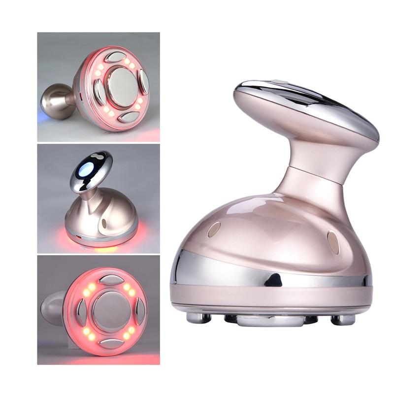 Ultrasonic CV RF Shaping LED Red Light Skin Care Mechanical Vibration Body Massager Fat Burner Anti Cellulite Slimming Machine50 anti cellulite massager