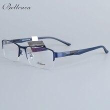 Bellcaca Spectacle Frame Men Eyeglasses Nerd Computer Optical Transparent Clear Lens Eye Glasses For Male Eyewear 12003