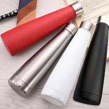 New Style Stainless Steel Vacuum Insulation Thermos Double Walled 450ml BPA Free Cone Shape Non Leak Drinks Bottles