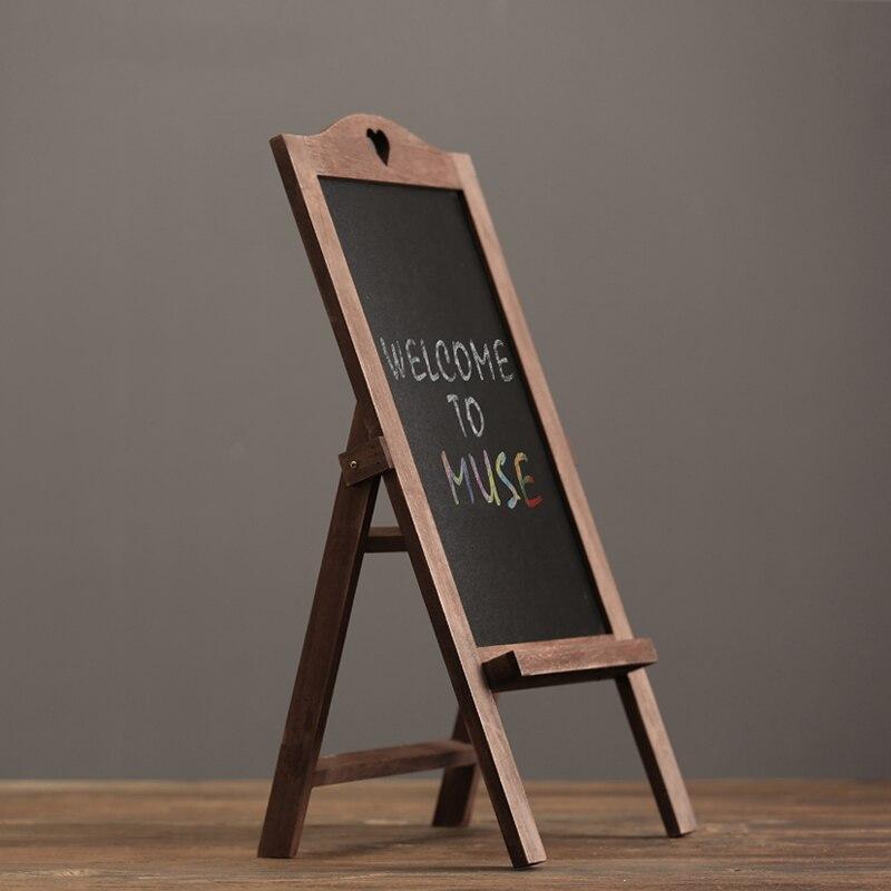 Vintage bois tableau noir message panneau café bar copie panneau d'affichage dispose d'un restaurant vêtements magasin Club craie conseil
