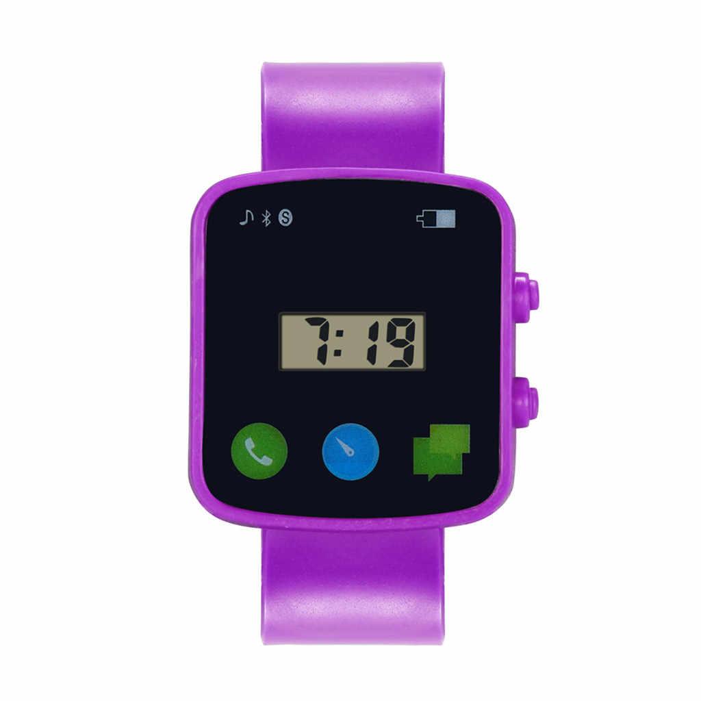 אופנה כיכר דיגיטלי לילדים בני בנות אנלוגי דיגיטלי ספורט שעון LED אלקטרוני עמיד למים שעוני יד 03 *