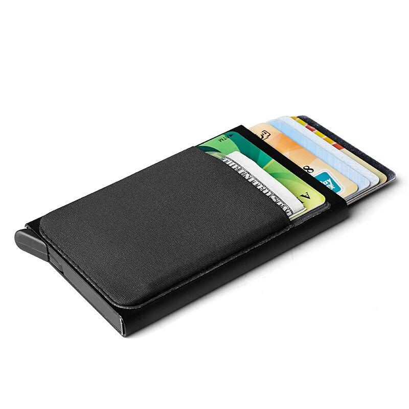 aluminum credit card holder wallet antitheft business card