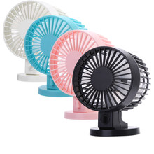 USB Pengisian Portable Handheld Mini Electric Fan Air Conditioner Cooler Cooling Fan Musim Panas Meja Kipas Pendingin Biru Pink(China)