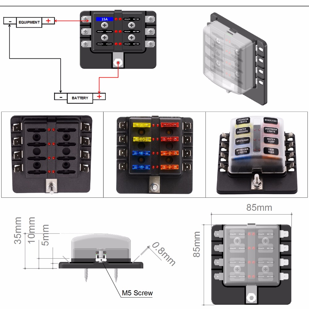 Blown Fuse Box Wiring Library 1994 Ford Explorer 4 0 Engine Screw Diagram 8 Way Atc Ato Blade Led Indicator For