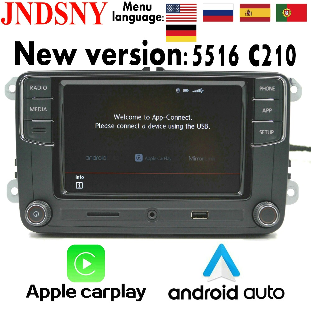 JNDSNY Android Auto CarPlay R340G RCD330 Noname RCD330G Plus Car Radio For VW Golf 5 6 Jetta CC Tiguan Passat Polo 6RD 035 187B(China)