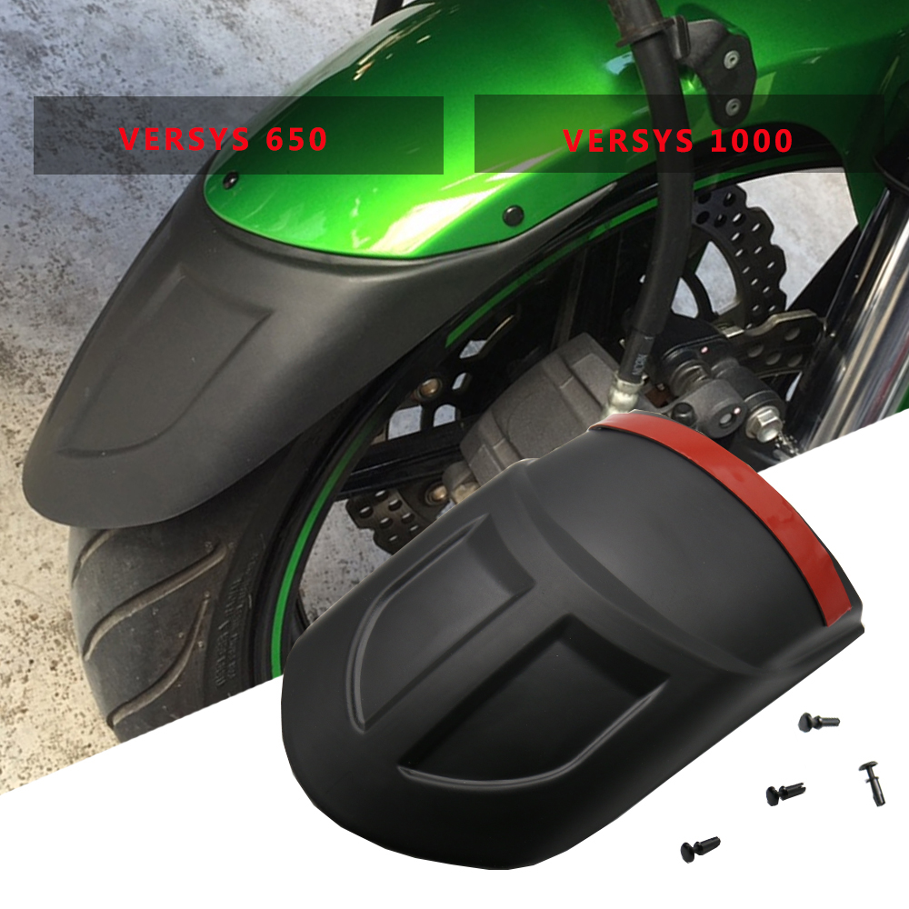 Motocicleta frente extensor hugger paralama & traseiro para kawasaki versys 1000 2012-2017 kle650 versys 650 2010-2017 kle 650