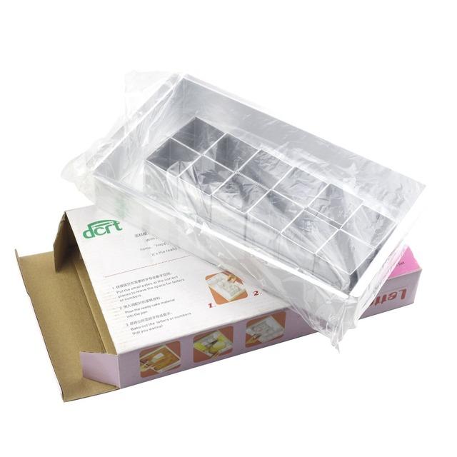 Rectangular Adjustable Letter Cake Mold Set