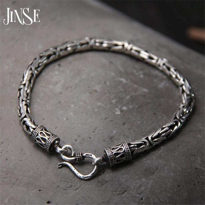 Bracelet homme 5 MM de largeur 925 bracelets en argent Sterling bijoux pour hommes chaîne de corde en argent thaïlandais 19 CM 22 CM cadeau fin pour petit ami