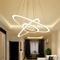 Jadalnia żyrandol akrylowy oświetlenie nowoczesne LED AC 110 V-260 V kreatywny salon światła żyrandole lampy do jadalni pokój