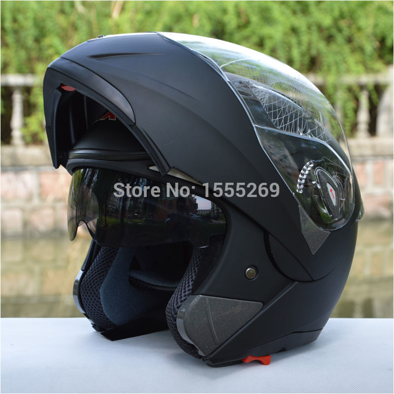 ФОТО Free shipping!GXT double lens motorcycle helmet flip up full face helmet vintage dual lens racing capacete ECE approved