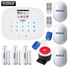 KERUI Noir/Blanc intelligent Sans Fil GMS SMS appel Accueil Antieffraction de Cambrioleur IOS/Android app Système D'alarme de Sécurité Tactile clavier