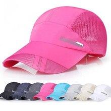 8 цветов, мужские спортивные кепки для бега, регулируемая уличная Кепка с козырьком, летняя солнцезащитная Кепка, Кепка из воздухопроницаемой сетки, бейсболки