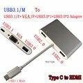 RACAHOO USB 3.1 Тип C для VGA и Женский USB3.0 и 2 USB 2.0 порта HUB & Зарядное Устройство для Macbook Multiport Пикселей или 4 К