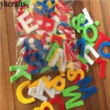 50PCS LOT A Z felt stickers Alphabet fabric stickers Letter sticker Kindergarten ornament Early educational toys