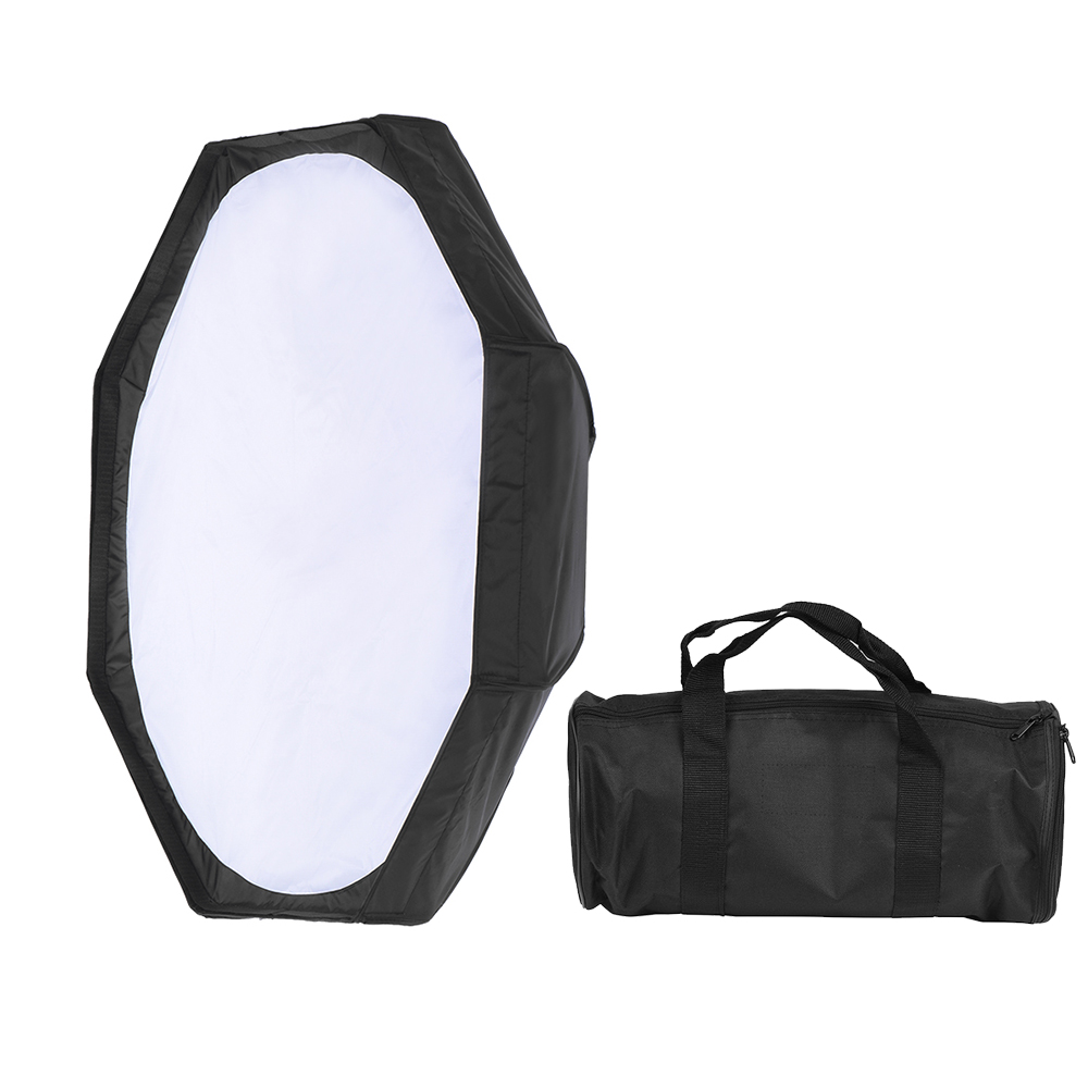 8 Pole 80cm 31 5 Foldable Softbox Flash Reflector Collapsible Dish Diffuser Silver Black for Bowens