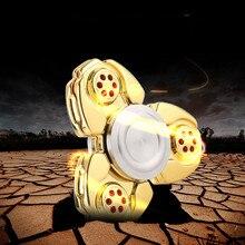 ใหม่CKFโลหะTri-s Pinnerอยู่ไม่สุขปั่นของเล่นอลูมิเนียม+สแตนเลส+ทองเหลืองชุบนิ้วผู้ใหญ่ของเล่น