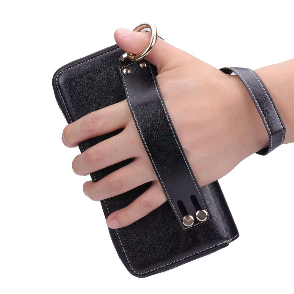Finger Ring Belt Hand Strap PU Wallet Mobile Phone Case Pouch For Xiaomi Black Shark,Redmi Note 5 Pro,Redmi Y1/Y1 Lite,Mi Note 3 iphone xs 財布