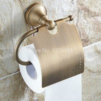 Bathroom Accessory Vintage Retro antique Bronze Wall Mounted Toilet Paper Roll Holder aba131
