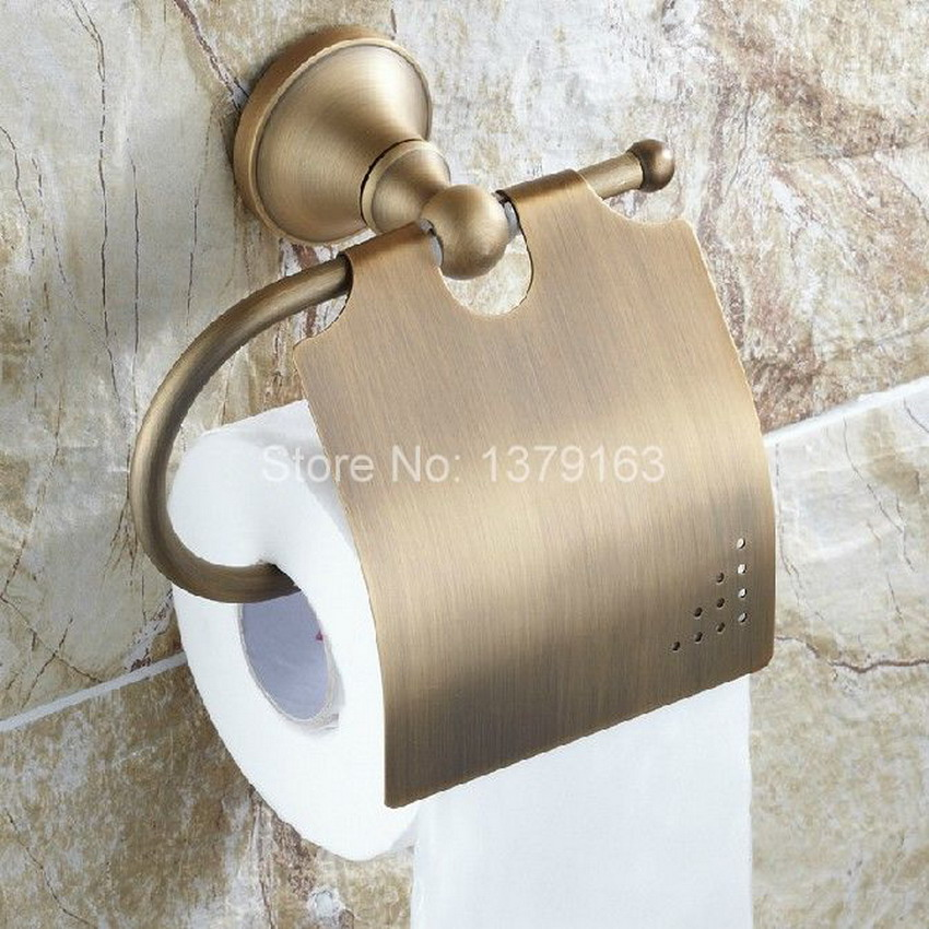 Bathroom Accessory Vintage Retro antique Bronze Wall Mounted Toilet Paper Roll Holder aba131 bathroom accessory antique brass wall mounted copper toilet paper roll holder free shipping aba037