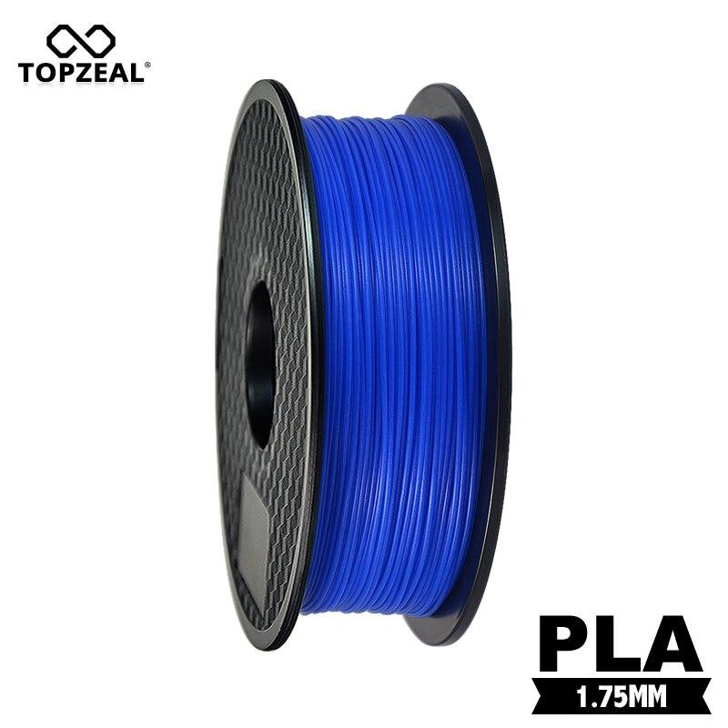 TOPZEAL 3D Filament Lueur Bleu dans l'obscurité PLA Plastique Filament pour 3D Imprimante 1.75mm 1 KG Bobine