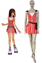 Free Shipping Kingdom Hearts Kairi Red Dress Cosplay Costume Halloween