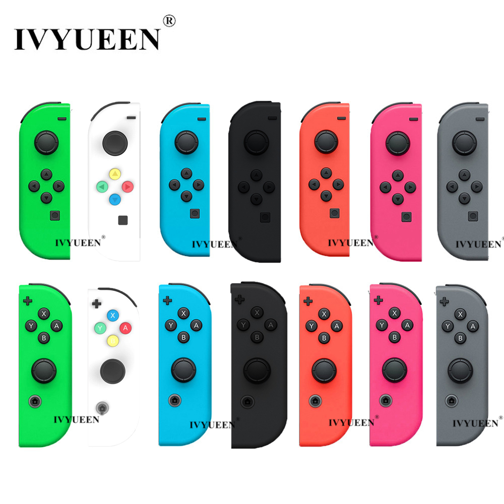 IVYUEEN Green Pink Red For Nintend Switch Joy-Con Replacement Housing Shell For NS JoyCon Cover For NX Joy Con Controller Case