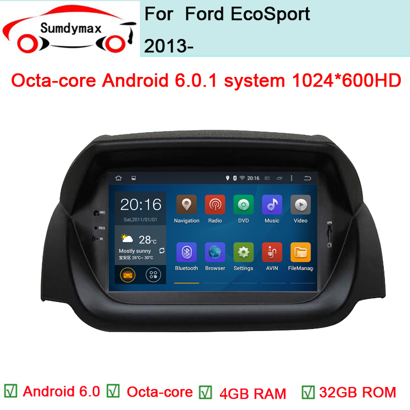 octa core android 6 0 car audio for ford ecosport 2013. Black Bedroom Furniture Sets. Home Design Ideas