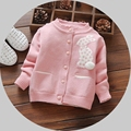 Stereoscopic Rabbit 0-3T Tooddler Gils Autumn Winter Fashion Long Sleeve Pink/ Purple Cotton Cardigan Knitted Lovely Sweaters