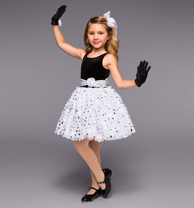 Stage & Dance Wear Ballet Popular Brand Girls Ballet Dance Dress Lovely Piece Skirt Black And White Color Stage Performance Dance Dress M-0709 Mild And Mellow