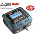 SkyRC D100 AC/DC Dual Balance Charger Discharger For RC Airplane Helicopter Car Boat Models