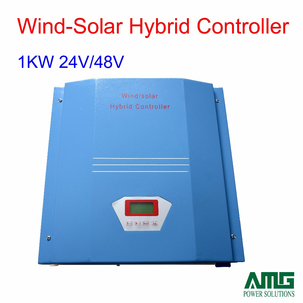 1000W/1KW 24V/48V Wind Solar Hybrid Charge Controller Regulator LCD dispaly with dump load цена