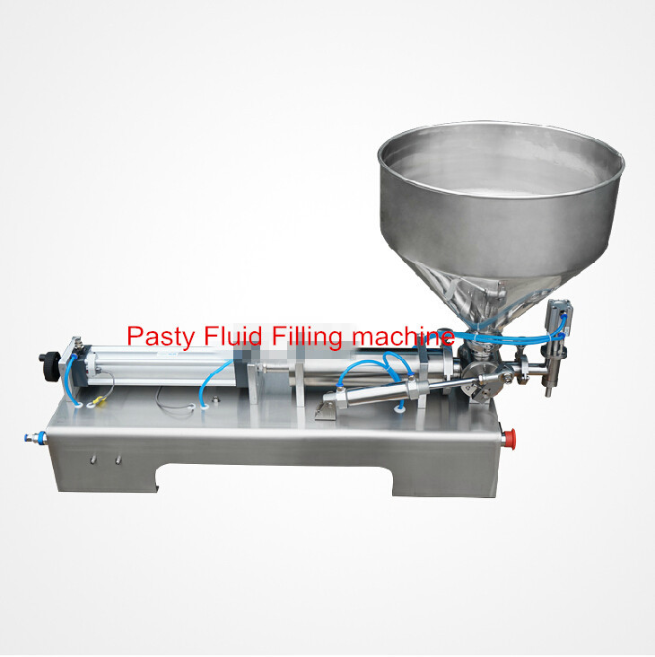 5-100ML Pneumatic pasty food filling machine sticky pasty filler stainless SS304,hot sauce bottling equipment,beverage packer