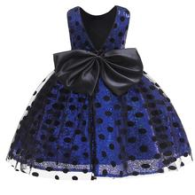 Girls Sequin Dress 2019 Fashion Kids Clothes Children Wedding Party Princess Dresses For Baby Girl Dot Bow Backless Tulle Dress 2016 summer baby girls sequin dress stars sequins tulle bow toddler tutu princess dress girl kids costumes 1 5years sequin dress