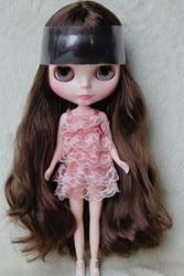 Blygirl blyth boneca marrom franja cachos bonecas no.2986 corpo geral 7 articulações cor da pele normal