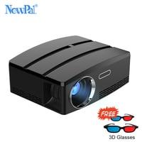 Newpal Projetor NP80/up Mini Projetor Android 6.01 4 K/2 K Suporte HDMI DLNA WI-FI Bluetooth Simplebeamer Miracast TV Projetores