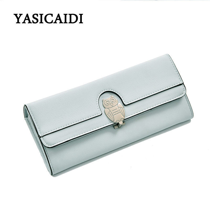 Fashion Owl Wallet PU Leather Purse Lovely Women Wallets Card Holder Long Cartoon Purses New Female Clutch Wallet Bag Long Purse new arrival fashion women s clutch long wallet girl pu leather portable coin bag purse colorful female cards holder phone wallet