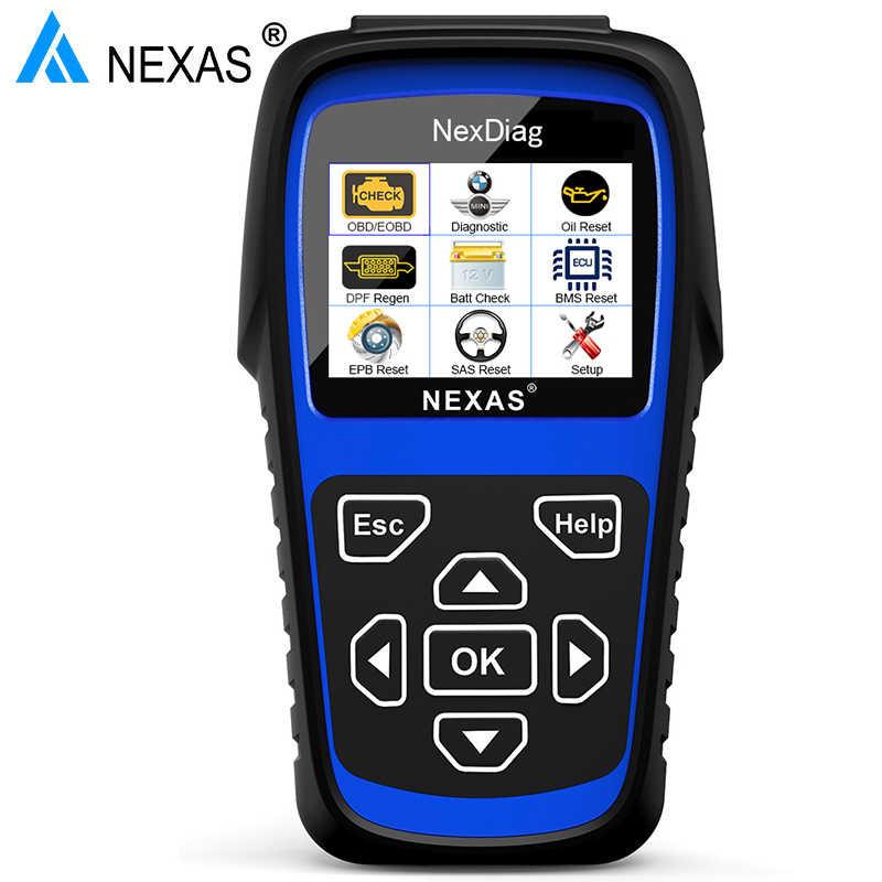 NEXAS ND601 OBD2 Car Diagnostic Tool for BMW E46 E36 E90 E60 E39 F30 F10  Check Engine ABS SAS Oil BMS DPF System ODB2 Scan Tool