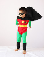Children Halloween Costume 3 7 Ages Kid Party Cosplay Boy Role Playing Robin Clothing Long Sleeve