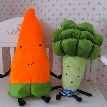 Cute Cartoon Vegetables Plush Toy Creative Carrot Broccoli Plush Pillow Stuffed Soft Toys For Children Kids Birthday Xmas Gift creative cute cartoon deer short plush toy stuffed animal plush doll toys children birthday