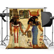 Shabby Egypt Backdrop Old Egyptian Mural Painting Backdrops Ancient Pharaoh and Hieroglyphics Background
