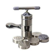 Нержавеющая сталь руководство лапши чайник паста машина пресс Spaetzle, в том числе 5 различных форм