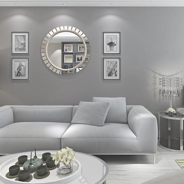 Beibehang preto cinza n o tecido papel de parede para sala for Sala de estar com papel de parede 3d