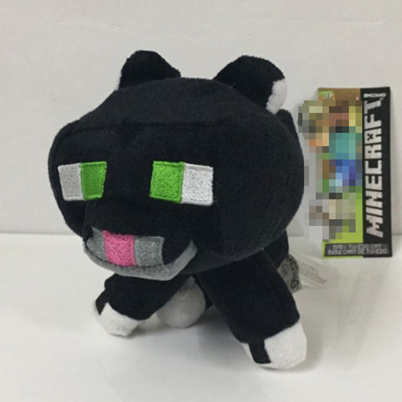 10pcs lot Minecraft Ocelot Plush Toys 20cm Minecraft Black Ocelot Plush Toy Soft Stuffed Animals Toys