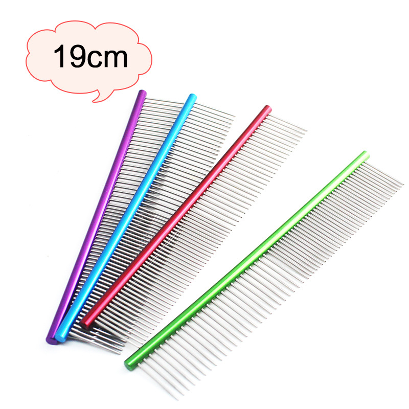 16cm 19cm Pet Dog Comb Anti Static Grooming Comb for Shaggy Cat Dogs Stainless Steel Lightweight Hair Removal Tool Pet Products