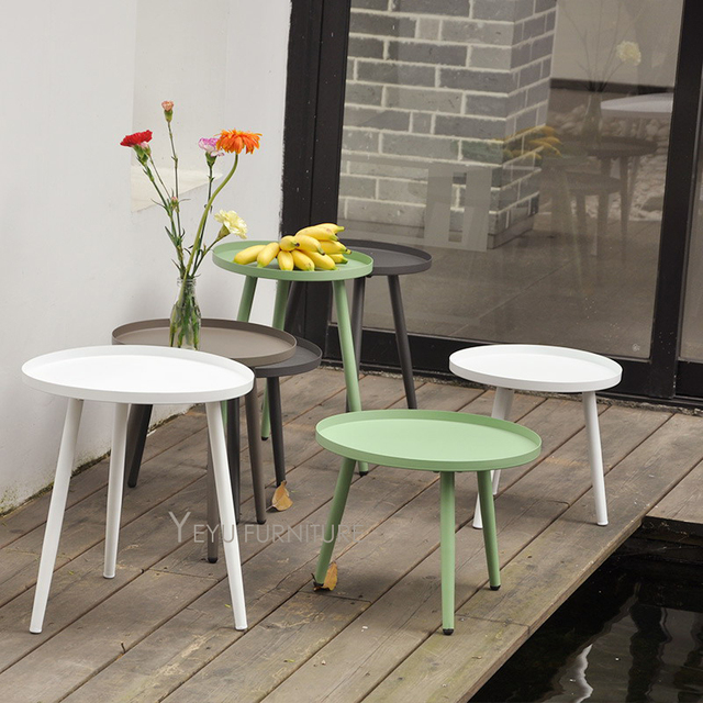 Modern Design Small Size Metal Side Table Outdoor Loft Tea Living Room
