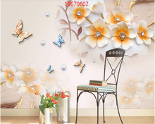 beibehang Custom size 3D European embossed flower jewellery simple fashion elegant plum wall decoration painting wallpaper