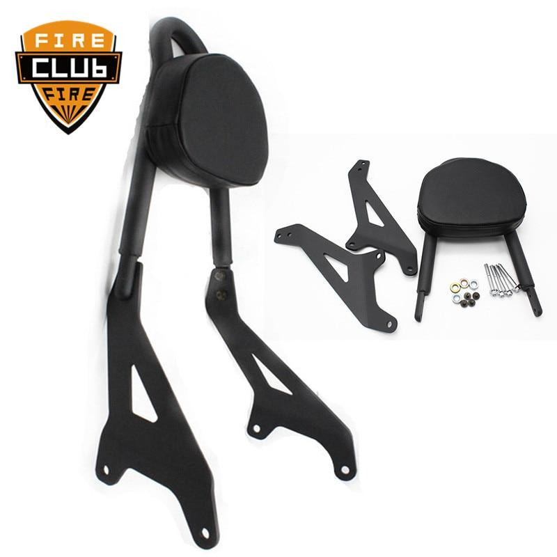 For Yamaha Star Bolt XVS950/R-Spec/C-Spec 2014-2017 16 15 Motorcycle Black Rear Passenger Backrest Sissy Bar W/ Side Arm Pad